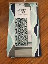 "Comfort Bay Shower Curtain Designer Print PEVA 70"" X 72"" NEW"