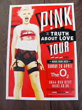 PINK THE TRUTH ABOUT LOVE WORLD TOUR 2013 LONDON A4 POSTER