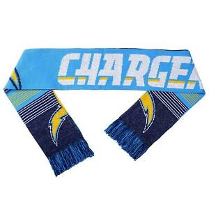 NFL San Diego Chargers Reversible Split Logo Scarf, Blue
