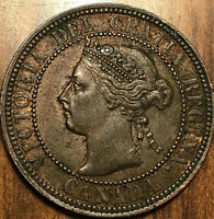 1900H CANADA LARGE CENT LARGE 1 CENT PENNY - Excellent example!