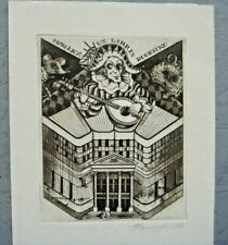 ex-libris exlibris bookplate etching  Grigory Bosenko Big Size