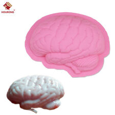 Zombie Brain Silicone Mold Halloween Fondant Cake Mould Soap Cooking Tools Candy