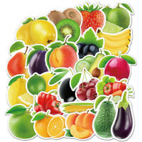 100 Fruits and Vegetables Skateboard Stickers bomb Vinyl Laptop Luggage Decals