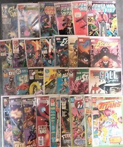 COMIC LOT OF 30-SANDMAN #1-UNCANNY X-MEN-POWER MAN & IRON FIST-OUTCAST-V/F LOT O