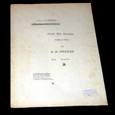 petit air ancien pour le piano partition 1920 H. M. Hansen