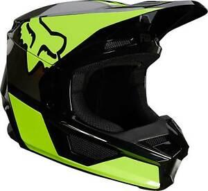Fox Racing V1 Helmet - MX Motocross Dirt Bike Off-Road ATV Flo Yellow