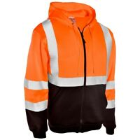ML Kishigo Class 3 Reflective Black Bottom Safety Sweatshirt, Orange