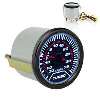 """1x 52mm 2"""" LED AUGMENTATION DE TURBO Jauge pression Compteur fumé G"""