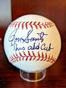 Ron Santo This Old Cub Signed Autographed OML Baseball PSA/DNA Hologram HOF Auto