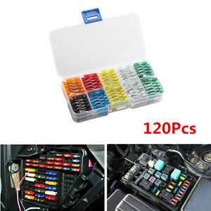 120x MIX Car Mini Standard Blade Fuse 7.5 10 15 20 25 30 Amp ATM APM  Fuses Box