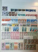 Spezial Sammlung Vatikan Eckränder Druckereizeichen Viererblöcke ab 1961