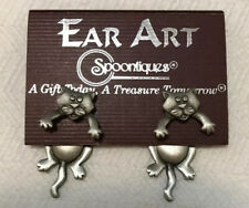 New Spoontiques Cat Earrings Ear Art Dangling Pierced Jonette. Free Shipping.
