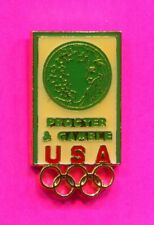 1984 OLYMPIC PROCTER & GAMBLE PIN GREEN BACKGROUND PROTOTYPE PIN