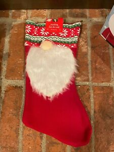 New Christmas House 18 Inch Felt Gnome Stocking ~ Red