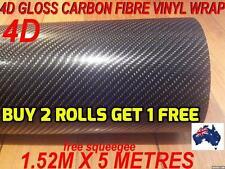 OZ 4D Gloss Carbon Fibre Car Vinyl Wrap Sticker1.52 X 5metre,  Wrap full Car