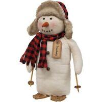 Snow Buddy Snowman Doll Plush Fabric Country Christmas Farmhouse Winter Holiday