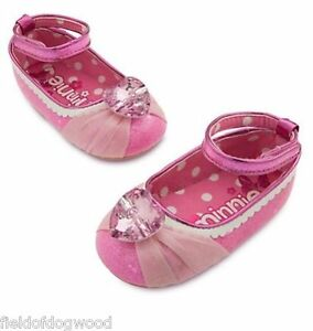 NWT Disney Store Minnie Mouse Baby Costume Shoes Heart Jewel 12 18 24 Months