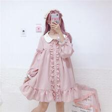 Japanese soft sister Lolita lovely girl doll collar fairy Lace flouncing dress