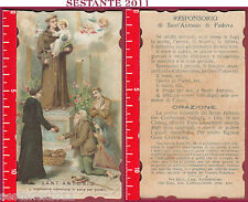 2165 SANTINO HOLY CARD SANT'ANTONIO S. ANTONIO L'ELEMOSINA CAMBIATA IN PANE