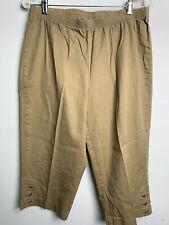 NWOT Just My Size Classic Capri Brown Pants 1X 16W Pull On Elastic Waist