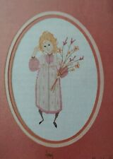 Cross Stitch Pattern P Buckley Moss AMY Amish Girl with Wild Flowers