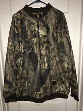Browning men's 2XL Barrier Fleece Mossy Oak breakup up camo zip pullover.