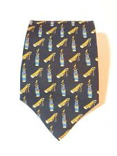 Today's Man Pure Silk Mens Neck Tie Made in Italy Golf Bag Pattern