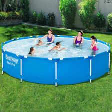 Bestway Swimming Pool Frame 366cm Above Ground Garden Outdoor Water Centre