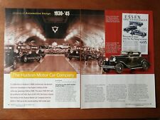 The Hudson Motor Company History of Automotive Design  - Original 6 Page Article
