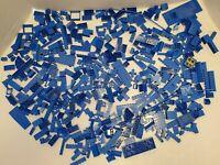LEGO LOT OF BULK BRICKS BLUE BUILDING BLOCK PARTS 2 LB