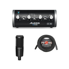 Alesis iO Hub Recording Interface w/ Audio Technica AT2020 Mic & XLR Cable