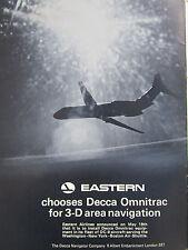 6/1970 PUB DECCA OMNITRAC 3-D AREA NAVIGATION DC-9 EASTERN AIRLINES ORIGINAL AD