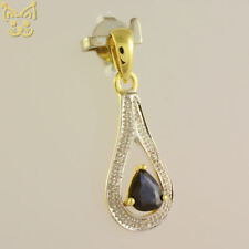 Saphir Diamant Tropfen Anhänger 333 8k Gelbgold Gold hanse-gold Schmuck