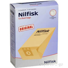 5 x nilfisk origine sacs pour série GD1000 aspirateur hoover