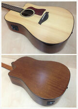 Gosila TKA220 Solid Spruce Top Acoustic Guitar,Fishman EQ,Natural+Free Gig Bag