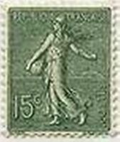 """FRANCE STAMP TIMBRE N° 130 """" SEMEUSE LIGNEE DE ROTY 15c VERT GRIS """" NEUF xx LUXE"""