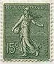 "FRANCE STAMP TIMBRE N° 130 "" SEMEUSE LIGNEE ROTY , 15 C VERT GRIS "" NEUF xx TTB"