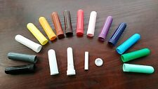 160 sets blank nasal inhalers 4parts/set 11colors plastic