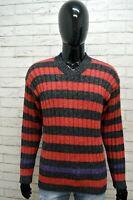 LEVI'S Maglione Uomo Pullover Cardigan a Righe Taglia Size XL Maglia Sweater Man