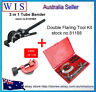 7 Dies Double Flaring Tool Kit Set w Tube Cutter 3 - 30mm & 3 in 1 Tube Bender