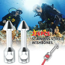 Silver Professional Speargun Bands Spearfishing Wishbone 316 Stainless Steel