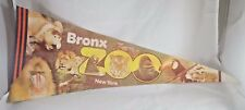 Vintage Bronx Zoo New York Collector's Series Pennant Flag Banner FREE SHIPPING!