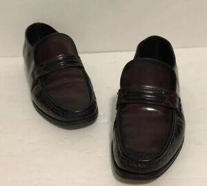 Florsheim Black Strap Leather Dress Penny Loafers Casual Shoes 17089-18 sz 10.5D