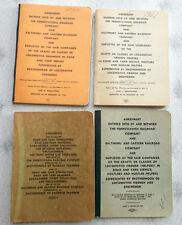 Pennsylvania Railroad Lot of 4 Labor Agreements  Books 1940's - 1960's