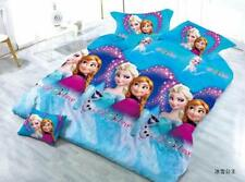 New Dtex 3D Cartoon Kids Images Glace Cotton Double Bedsheets With 2 Pillow Cove