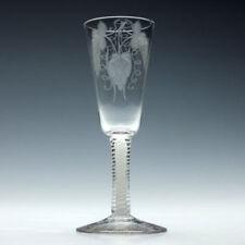 Engraved Vintage Original Georgian Glass