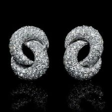 1.00CT Excellent Cut and Brilliance Cubic Zirconia Fashion Cluster Fine Earrings