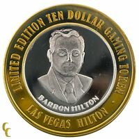 Barron HIlton $10 Las Vegas HIlton Casino Gaming Token .999 Silver Ltd Edition