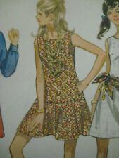 Sz 11/12 Vtg Butterick Long Waisted Dress Flip Skirt Sewing Pattern Women 5418