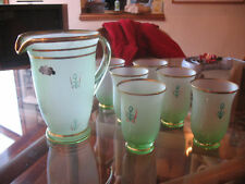 VINTAGE AUSTRALIAN  STUDIO  ART GLASS  7 PIECES 1920'S